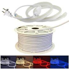 110V Neon LED Strip Light 2835 120LED/M Flex Rope Light DIY Sign Decor+US Plug