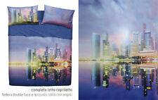 Completo letto lenzuolo copriletto Bassetti Imagine Singapore città varie misure