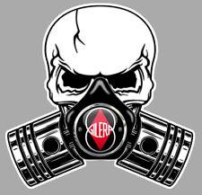 GILERA Pistons Skull Sticker