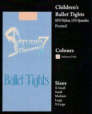 Studio 7 Dance Tights, Children's Sizes, Ballet Salmon Pink, New