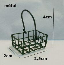 panier en métal miniature,maison de poupée, vitrine,commerce,courses **CL1**