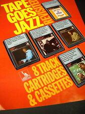Jazz Music on 8 Track Cartridges Vintage Promo Ad