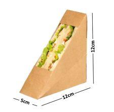 Kraft Cartón Sandwich Cuña ~ Cafe para llevar Caja paquetes ~ estándar llenar Cuñas