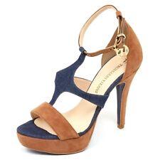 D2826 sandalo donna blu denim/beige TRUSSARDI JEANS shoe woman