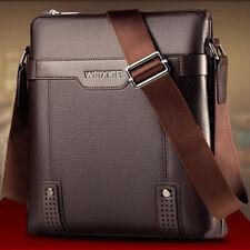 NEW Men's Genuine Leather/PU Small Shoulder Bag Vintage Sling Messenger Pack Bag