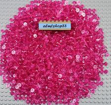 LEGO - 1x1 Round Plates Trans Dark Pink Dots Bricks Small Translucent Lot Bulk