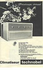 PUBLICITE ADVERTISING  1960  TECHNOBEL le climatiseur