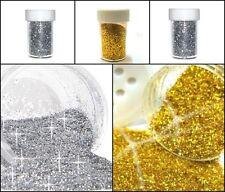 Silber Gold Glitzerpulver Glimmer Streudose Glitter Puder Deko Nail Art