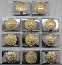 FHB 870 Koppelschloss Zunftzubehör Gürtelschnalle Untergrund silber Emblem gold