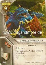 Warhammer Invasion - 2x Saurus Warriors  #034