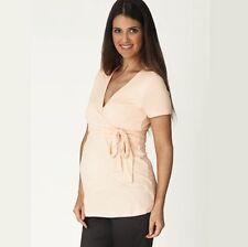 3203d72abe7e5 Ripe Maternity Nursing Ballet Wrap Top 16 XL Blush Pink Apricot Breast  Feeding