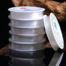 2Pcs 0.4mm/0.6mm/0.8mm/1mm diametro linea de pesca de elástica Línea de joyería