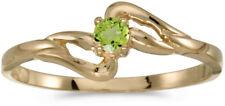 14k Yellow Gold Round Peridot Ring (CM-RM1039X-08)