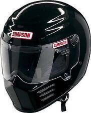 Simpson Outlaw Casco Snell m2015 Brillante Negro L Grande 60cm 7 1/2