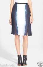 Vertical Dip Dye Pleated Skirt VINCE,  6