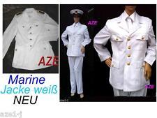 NEu & Gebr.BW MARINE Uniform Jacke Kapitän Weiss,FASCHING Traumschiff Karneval