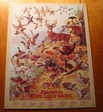 REMINGTON GAME LOAD BIRD DEER DUCK ANIMAL IDENTIFICATION CHART Hunter Sign Decor