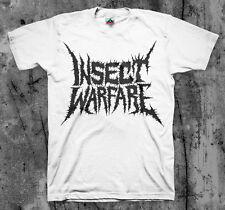 INSECT WARFARE 'Black Logo' T Shirt (Nasum Phobia Napalm SOB)