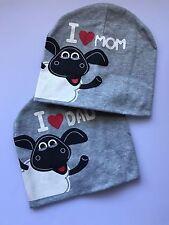 Baby Boy Girl Kids Child I LOVE DAD PAPA MUM Beanie Hat Cap Prop Gift For mum