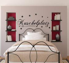 Wandtattoo Schlafzimmer Kuschelplatz + Sterne 2289 Wand Sticker Tattoo Aufkleber