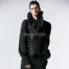 New PUNK Sleeveless Vest Tail Jacket Waistcoat Men Gothic Visual Kei Streampunk