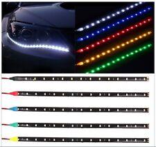 STRISCIA LED SMD 30cm bianca rossa blu ultraluminosa luce cavo 12V diodi strip