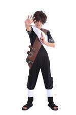 Naruto Shippuden Cosplay Costume Hidden Sand Kazekage Gaara Black Outfit V1 Set