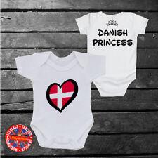 Danish Princess Baby grow vest, Denmark, Disney Inspired, Kids, Girls, Gift