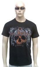 BRAVADO Official HARLEY DAVIDSON Stained SKULL TOTENKOPF Vintage ViP  T-Shirt S
