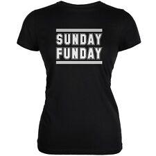 Sunday Funday Oakland Black Juniors Soft T-Shirt