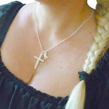 Cruz Collar Con carta Colgante,Cualquier inicial,regalo caja. moderno,