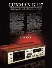 Luxman K-117 Original Cassette Deck Brochure