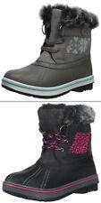 Kids Northside Girls Shoes Brookelle Snow Winter WaterProof Boots Black Gray NEW