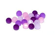 20 Stück Polarisperlen rund Perlenmix Perlenmischung lila rosa Preishammer