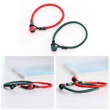 Lucky Handmade Red And Green String Ceramic Bead Bangle Bracelet Jewellery Gift