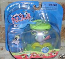 Littlest Pet Shop BUTTERFLY Caterpillar, yellow inchworm JAR #93 2005 HTF