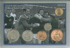 Scozia SCOTTISH SQUADRA DI CALCIO VINTAGE WEMBLEY WIZARDS Retrò MEDAGLIA Set Regalo 1967