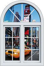 Sticker fenêtre trompe l'oeil  New York Taxi réf 1033
