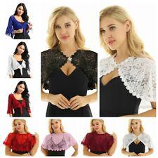 Womens Lace Bolero Shrug Cardigan Top Shawls Wraps Bridal Cape Evening Dresses