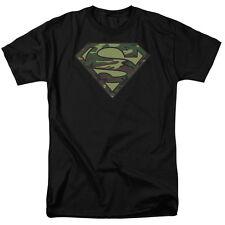 DC Comics Superman Camo Logo Shield Licensed Adult T Shirt