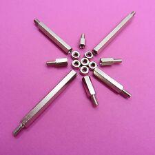 M3 Esagonale Maschio Nickel PILASTRI Hexagon Esagonale Distanziatori PCB filettato + Dadi