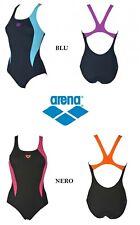 COSTUME INTERO DONNA PISCINA ARENA Nuoto Mare W DIRECTUS ONE P Nero BLU 1A66178