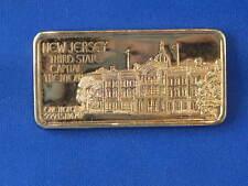 1974 New Jersey Gold Plated Silver Art Bar B2748