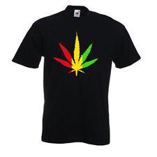 RASTA LEAF smokin Dub reggae weed dancehall dubstep skunk marijuana T-shirt