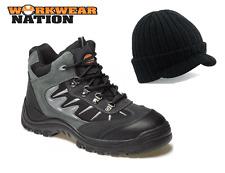 Mens Dickies Work Workwear Storm Safety Hiker Trainer Shoe Grey FREE PEAKED HAT