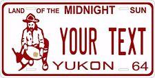Yukon Canada 1964 License Plate Personalized Custom Car Bike Motorcycle Moped