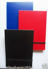 A6 Notebook Libro 80 Hojas De Forro Cubierta De Plástico Correa Elástica Negro Azul O Rojo