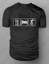Eat Sleep Skateboard Tshirt Longboard Deck Boarding Clothing Skate T-shirt M-XXL