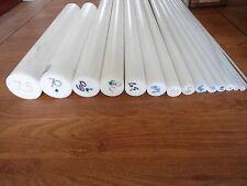 ACETAL Rod Natural White Engineering Plastic Billet Round Bar Bush Spacer Shim