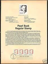 #1848 PEARL S. BUCK Author 1983 Official Souvenir Page